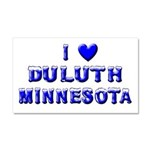 I Love Duluth Car Magnet 20 x 12