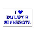 I Love Duluth Car Magnet 20 x 12