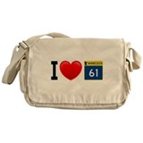 I Love Grand Marais Messenger Bag