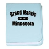 Grand Marais Established 1903 baby blanket