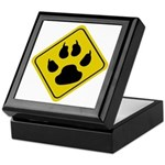Cat Crossing Sign Keepsake Box