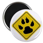 Cat Crossing Sign Magnet