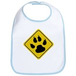 Cat Crossing Sign Bib