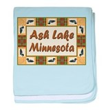 Ash Lake Loon baby blanket