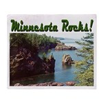 Minnesota Rocks! Throw Blanket