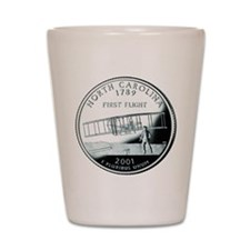 North Carolina Quarter Shot Glass