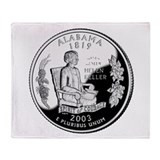 Alabama Quarter Throw Blanket