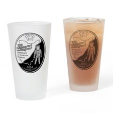 Ohio Quarter Drinking Glass