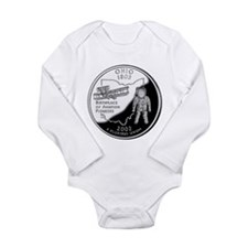 Ohio Quarter Long Sleeve Infant Bodysuit