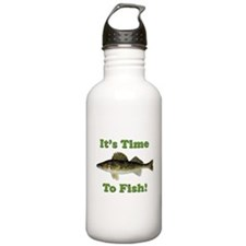 It's Time to Fish Sports Water Bottle