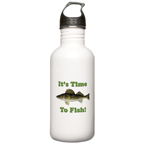 It's Time to Fish Stainless Water Bottle 1.0L