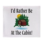 At The Cabin Throw Blanket