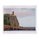 Split Rock Lighthouse Throw Blanket