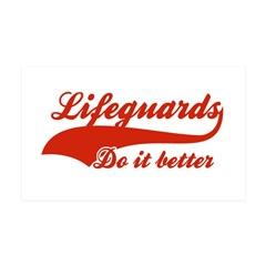 Life guards Do It Better 38.5 x 24.5 Wall Peel