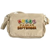 Avery is Due in September Messenger Bag