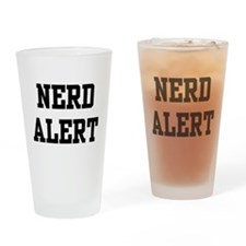 Nerd Alert Drinking Glass