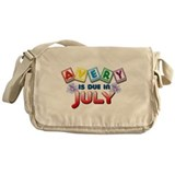 Avery is Due in July Messenger Bag