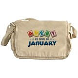 Avery is Due in January Messenger Bag