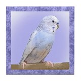 Blue Budgie Tile Coaster