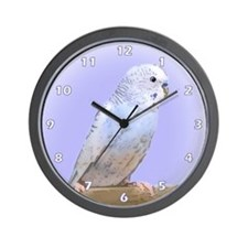 Blue Budgie Wall Clock