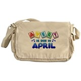 Avery is Due in April Messenger Bag