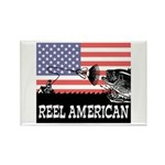 Reel American Fishing Rectangle Magnet