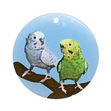 Budgie Pair Ornament (Round)