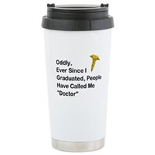 "People Call Me ""Doctor"" Ceramic Travel Mug"