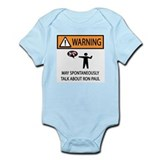 Warning Talk Ron Paul Onesie