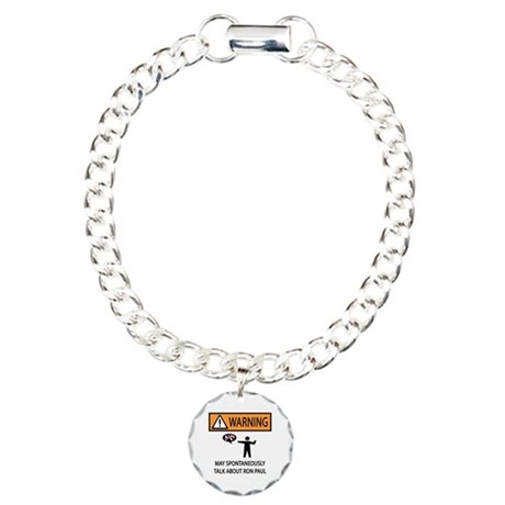 Warning Talk Ron Paul Charm Bracelet, One Charm