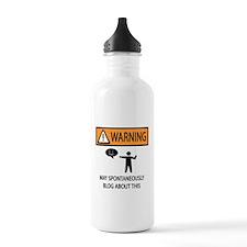 Warning Blogger Water Bottle