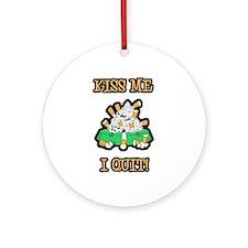 Kiss Me I Quit Smoking Ornament (Round)