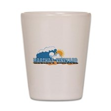 Martha's Vineyard MA - Waves Design. Shot Glass