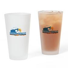 Martha's Vineyard MA - Waves Design. Drinking Glas