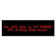Driving Miss Daisy bumpersticker (bl/rd)