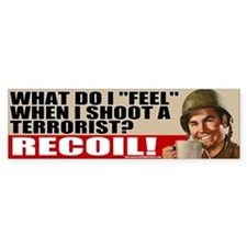 Soldiers Feel Recoil Anti-Terrorist Bumper Car Sticker