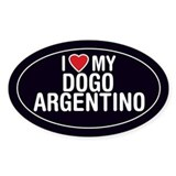 I Love My Dogo Argentino Oval Sticker/Decal