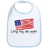 Long May She Wave Bib