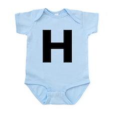 Letter H Infant Bodysuit