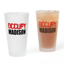 OCCUPY MADISON Drinking Glass