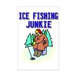 Ice Fishing Junkie Mini Poster Print