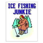 Ice Fishing Junkie Small Poster