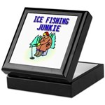 Ice Fishing Junkie Keepsake Box