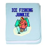 Ice Fishing Junkie baby blanket
