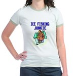 Ice Fishing Junkie Jr. Ringer T-Shirt