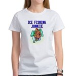Ice Fishing Junkie Women's T-Shirt