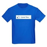 Valentines Day Love You Facebook Button T