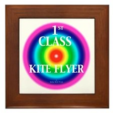 Kite Flyer Framed Tile