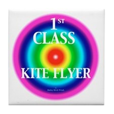 Kite Flyer Tile Coaster
