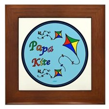 Papa Kite Framed Tile